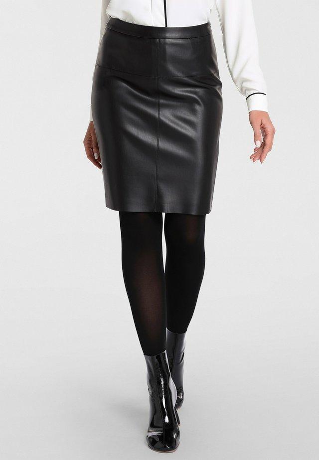Leather skirt - schwarz