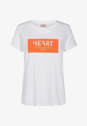CHÉRIE - Print T-shirt - weiß