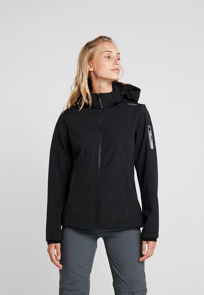 CMP - WOMAN JACKET ZIP HOOD - Soft shell jacket - nero