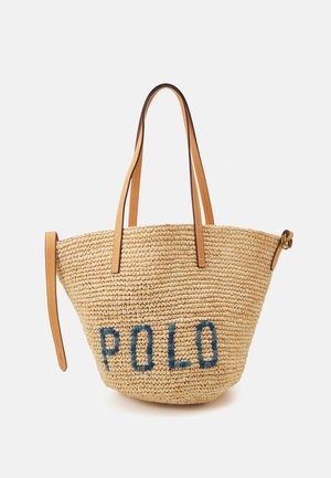Tote bag - natural/blue