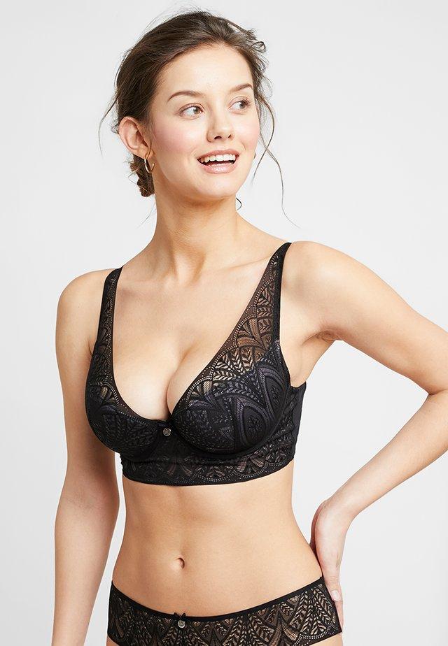 DECO PLUNGE - Underwired bra - black/grey