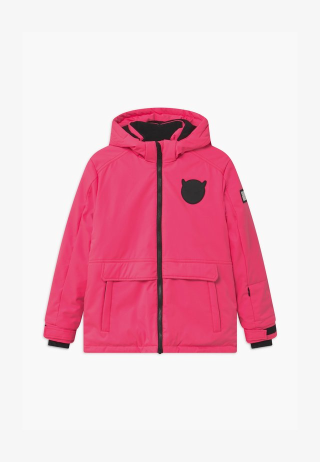 SUSTAINABLE PLAIN UNISEX - Snowboardjacke - fluo pink