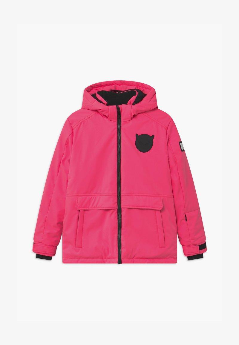 SuperRebel - SUSTAINABLE PLAIN UNISEX - Snowboardová bunda - fluo pink