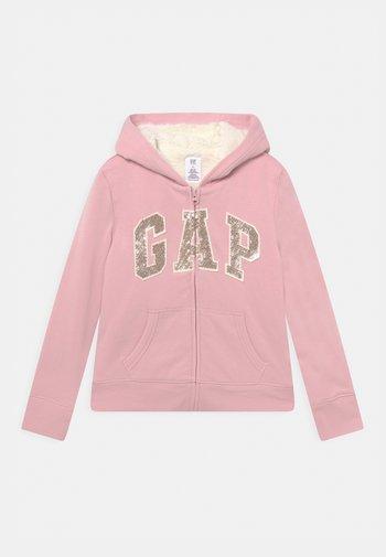 GIRL LOGO COZY  - Felpa con zip - pure pink