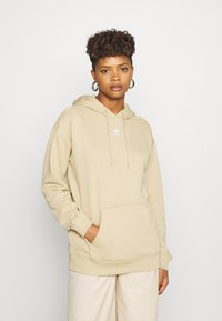 adidas Originals - TREFOIL ESSENTIALS HOODED - Hoodie - linen khaki - 2