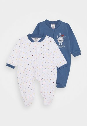 2 PACK - Pyjamas - blue/white