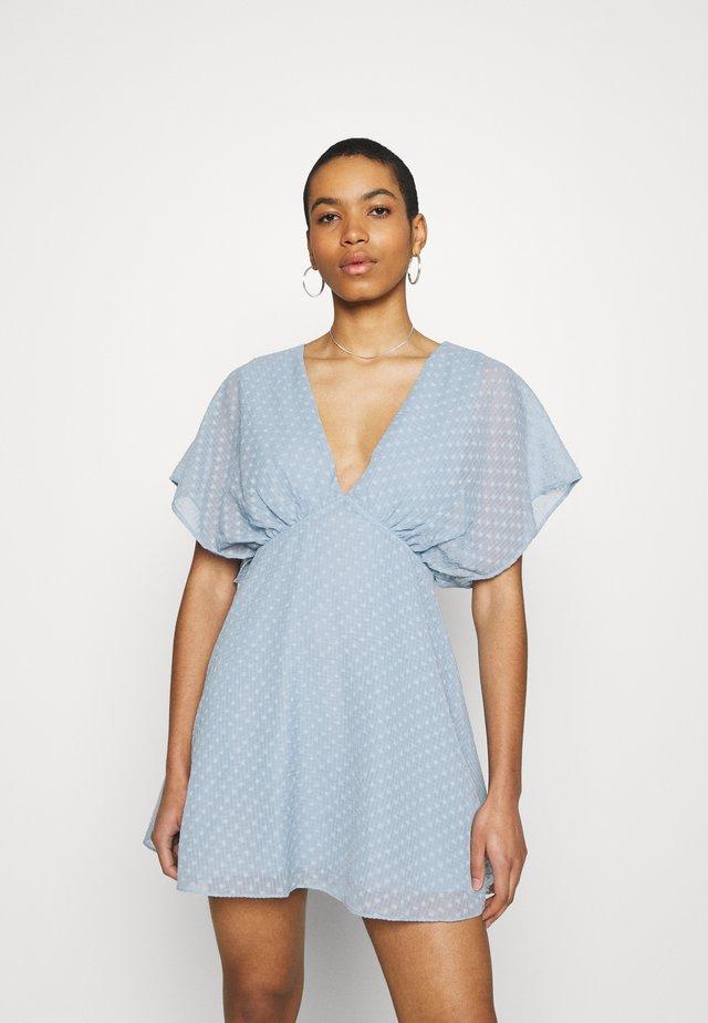 VAAL SHORT DRESS - Sukienka letnia - dusty blue