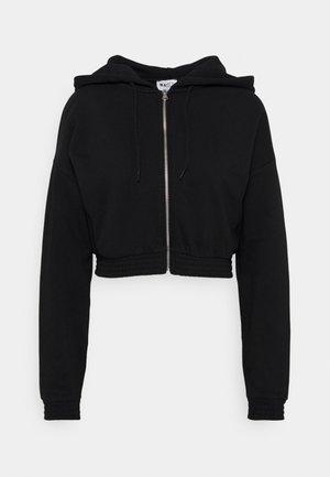 ZIP DETAIL HOODIE - Zip-up hoodie - black