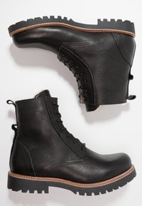 Shoe The Bear - POLAR - Lace-up ankle boots - black - 1