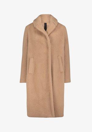 MIT REVERSKRAGEN - Classic coat - beige