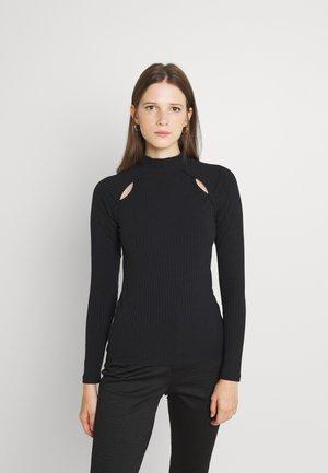 BYROELLA CUTOUT  - T-shirt à manches longues - black