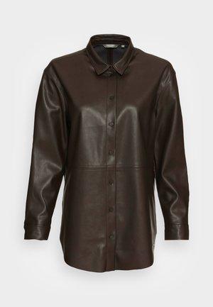 BLOUSE - Camisa - dark oak brown
