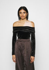 Nly by Nelly - FOLD OVER  - Long sleeved top - black - 0