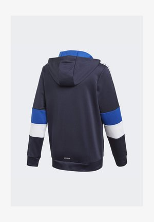 MUST HAVES AEROREADY 3-STRIPES FULL-ZIP HOODIE - Mikina na zip - blue