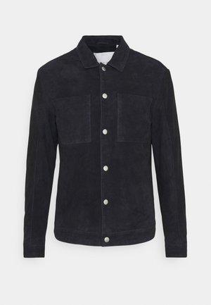 LIAN SUEDE JACKET - Leather jacket - navy blazer