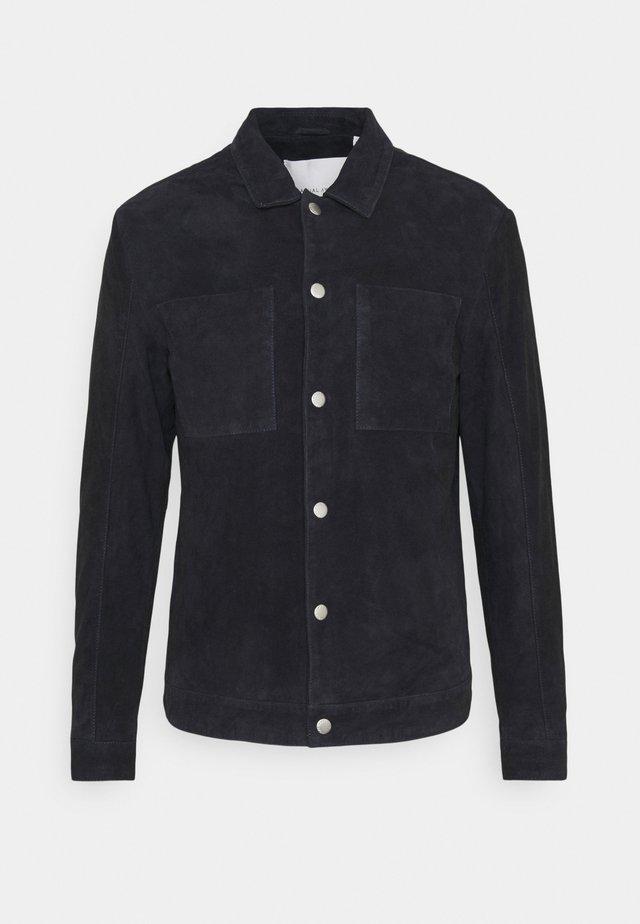 LIAN SUEDE JACKET - Giacca di pelle - navy blazer