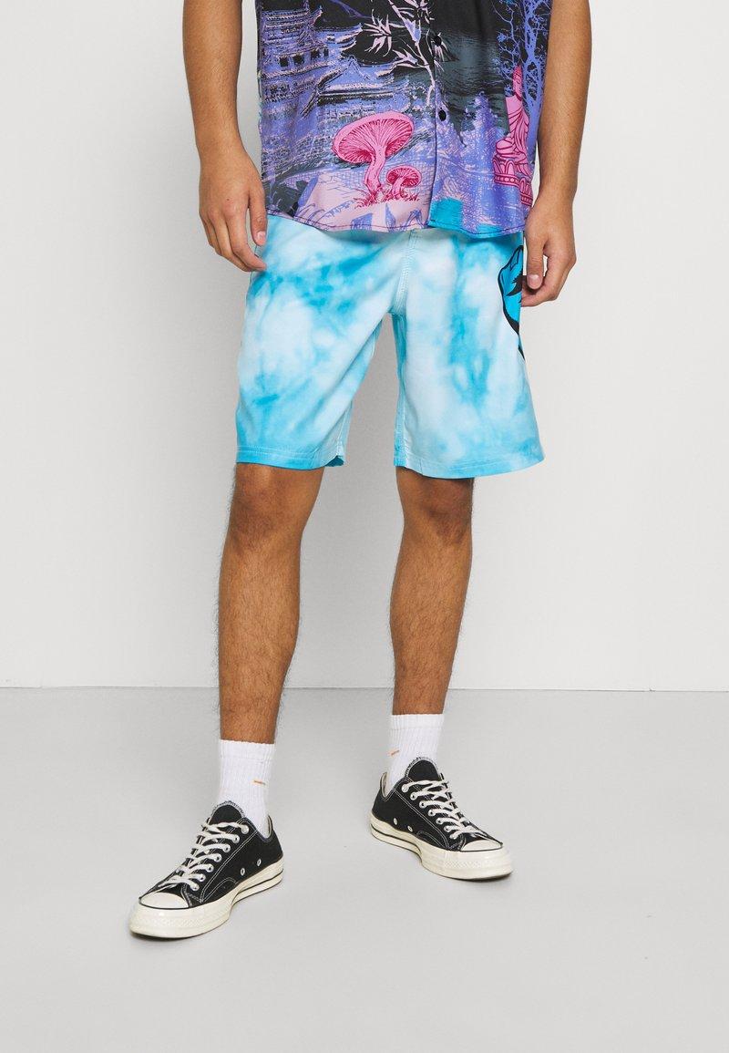 Santa Cruz - TIE DYE HAND BOARDIE - Shorts - blue