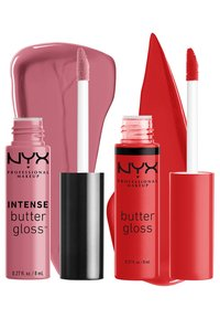 Nyx Professional Makeup - 2ME, LUV ME BUTTER LIP GLOSS DUO-SET - Lip palette - nude pink/warm red - 3