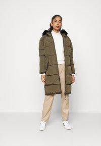 ONLY - ONLMONICA LONG PUFFER COAT  - Winter coat - beech - 1