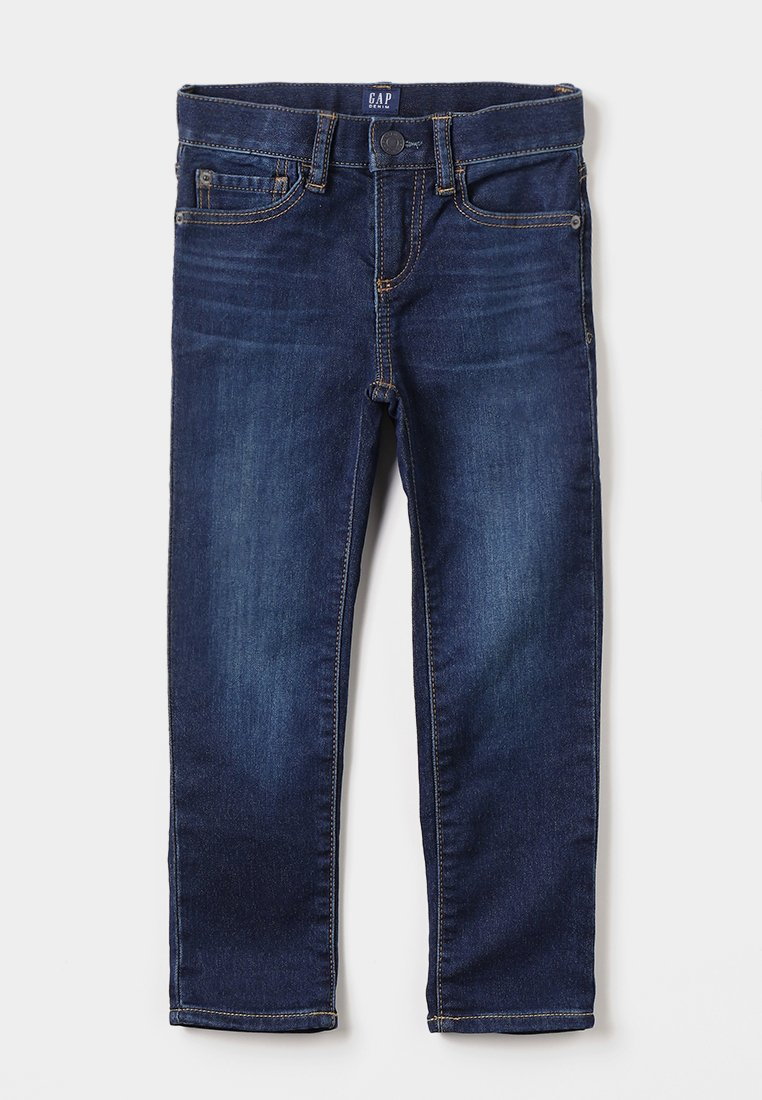 GAP - BOTTOMS SLIM - Slim fit jeans - dark blue denim