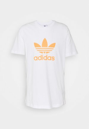 TREFOIL UNISEX - T-shirt print - white/hazy orange