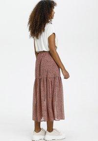 Kaffe - BPFILUA - A-line skirt - old rose with black flowes - 2
