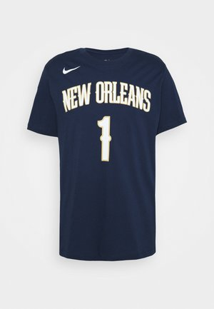 NBA NEW ORLEANS PELICANS ZION WILLIAMSON ASSOCIATION - Printtipaita - college navy