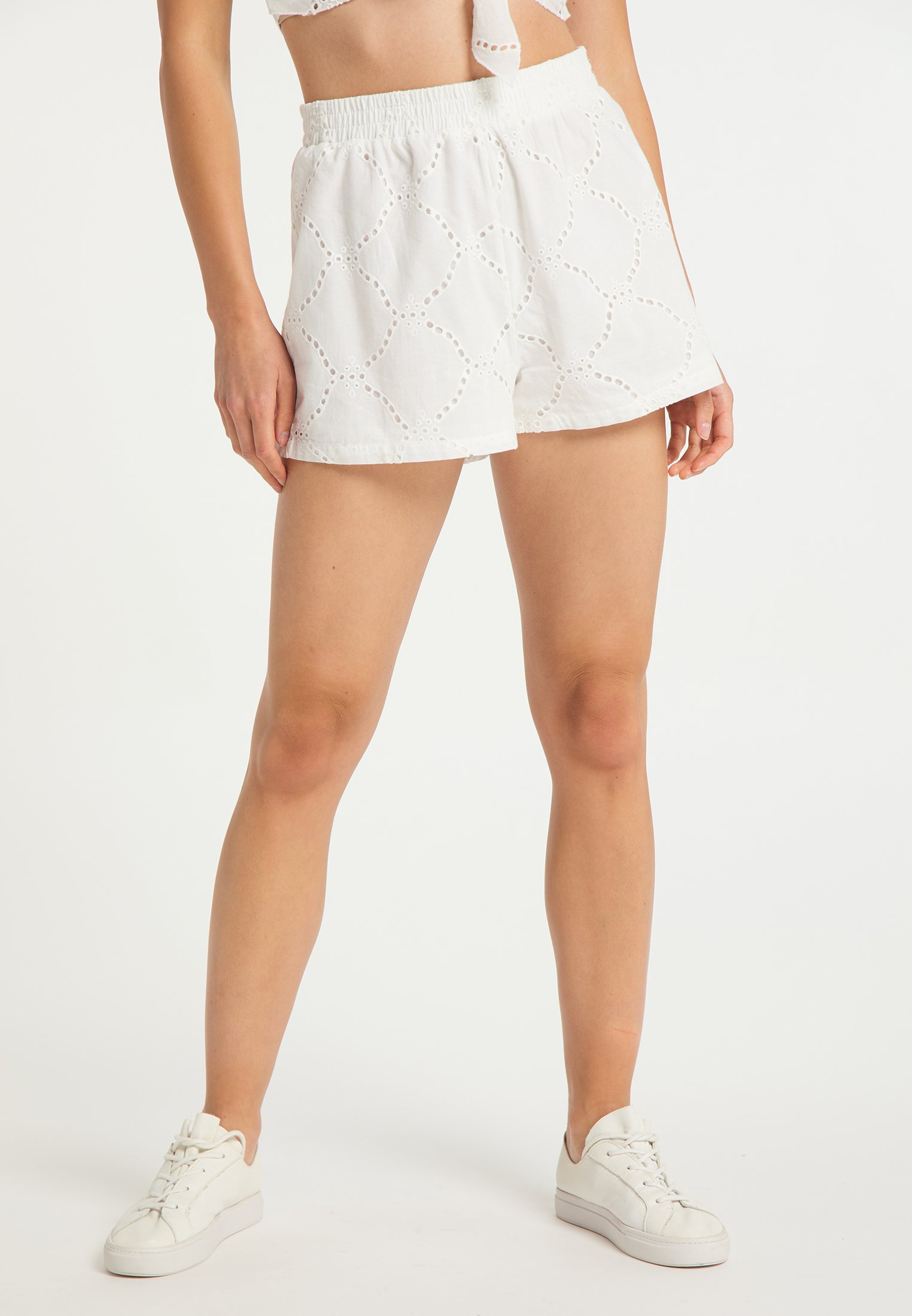 Official Women's Clothing myMo Shorts weiss IUOZ9uCRw