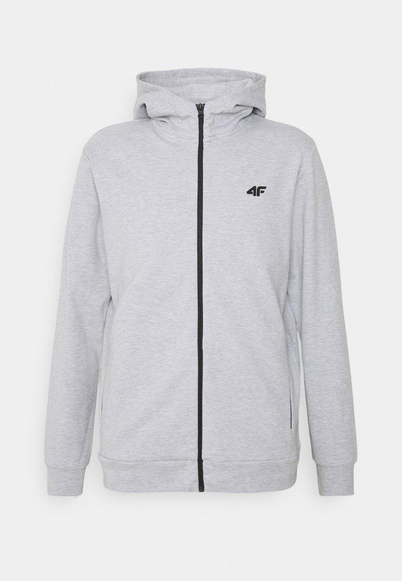 4F - Men's hoodie - Zip-up hoodie - grey