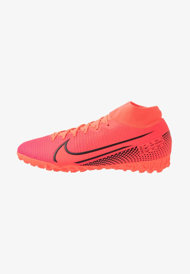 MERCURIAL 7 ACADEMY TF - Astro turf trainers - laser crimson/black
