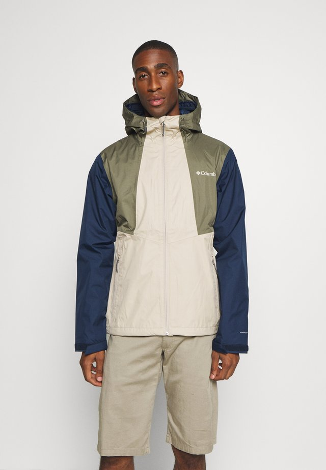 INNER LIMITS™ JACKET - Giacca hard shell - ancient fossil/coll navy/stone green