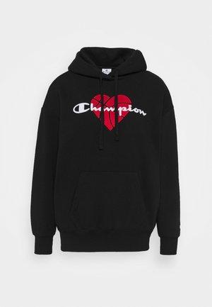 LOVE HOODED  - Sweatshirt - black