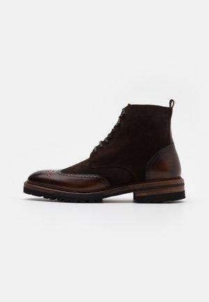 Lace-up ankle boots - capri espresso / venecia testa