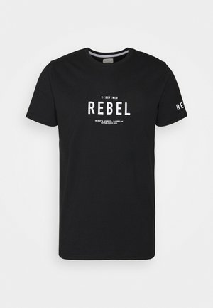 RONAN TEE - Print T-shirt - black