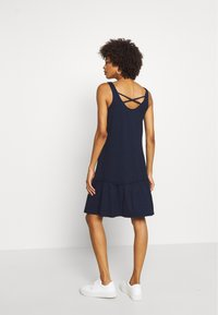TOM TAILOR DENIM - DRESS WITH BACK DETAIL - Jersey dress - real navy blue - 2