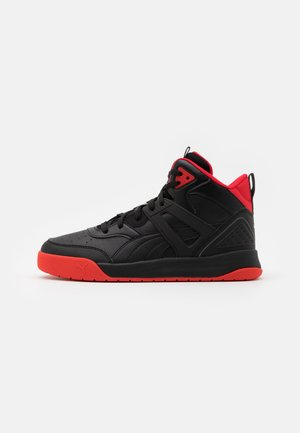 BACKCOURT MID UNISEX - Høye joggesko - black/high risk red/dark shadow/silver