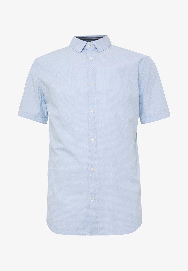 Overhemd - light blue white dobby