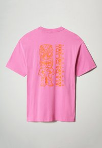 Napapijri - S-HAENA - Print T-shirt - pink super - 4