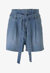 TOM TAILOR DENIM - Denim shorts - used light stone blue denim - 6
