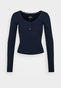 Hollister Co. - BUTTON THRU - Maglietta a manica lunga - navy - 4