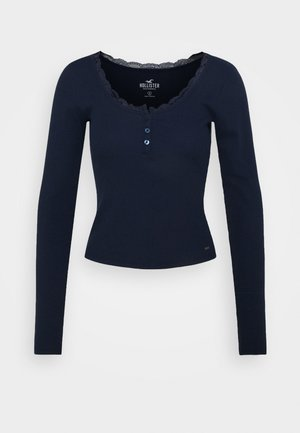 BUTTON THRU - Maglietta a manica lunga - navy