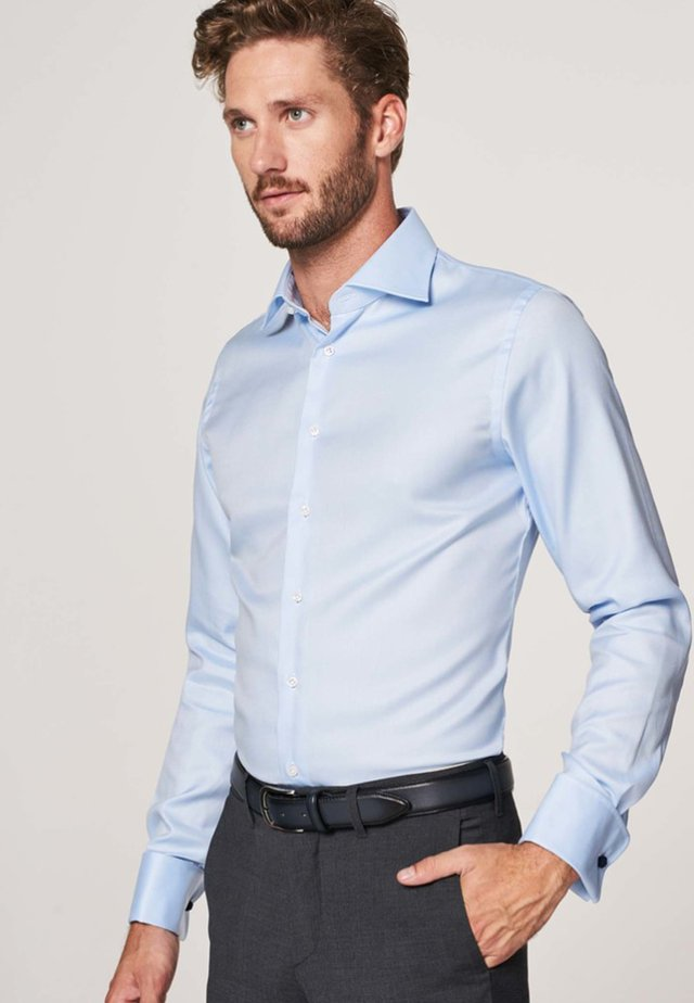 Slim fit mit doppel manschette - Formal shirt - licht blauw