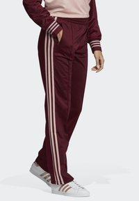 adidas Originals - FIREBIRD TRACKSUIT BOTTOMS - Tracksuit bottoms - burgundy - 0