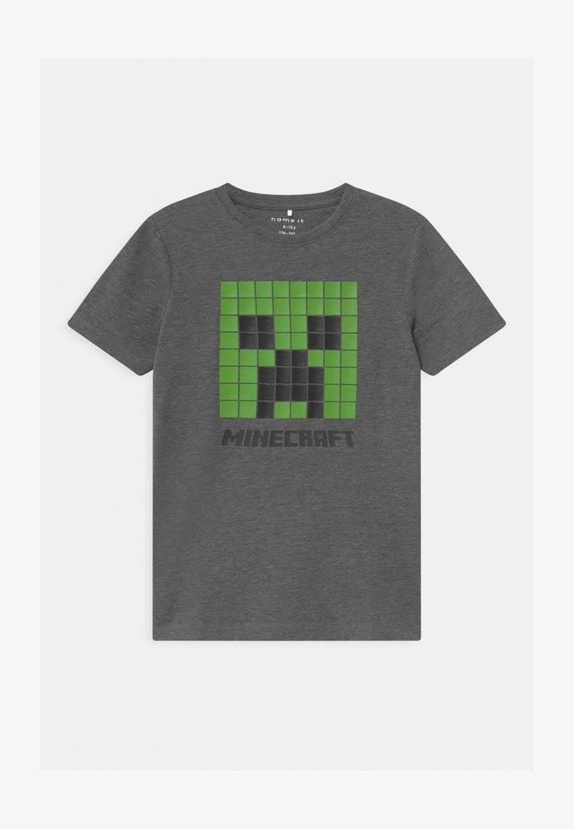 NKMMINECRAFT  - Camiseta estampada - dark grey melange