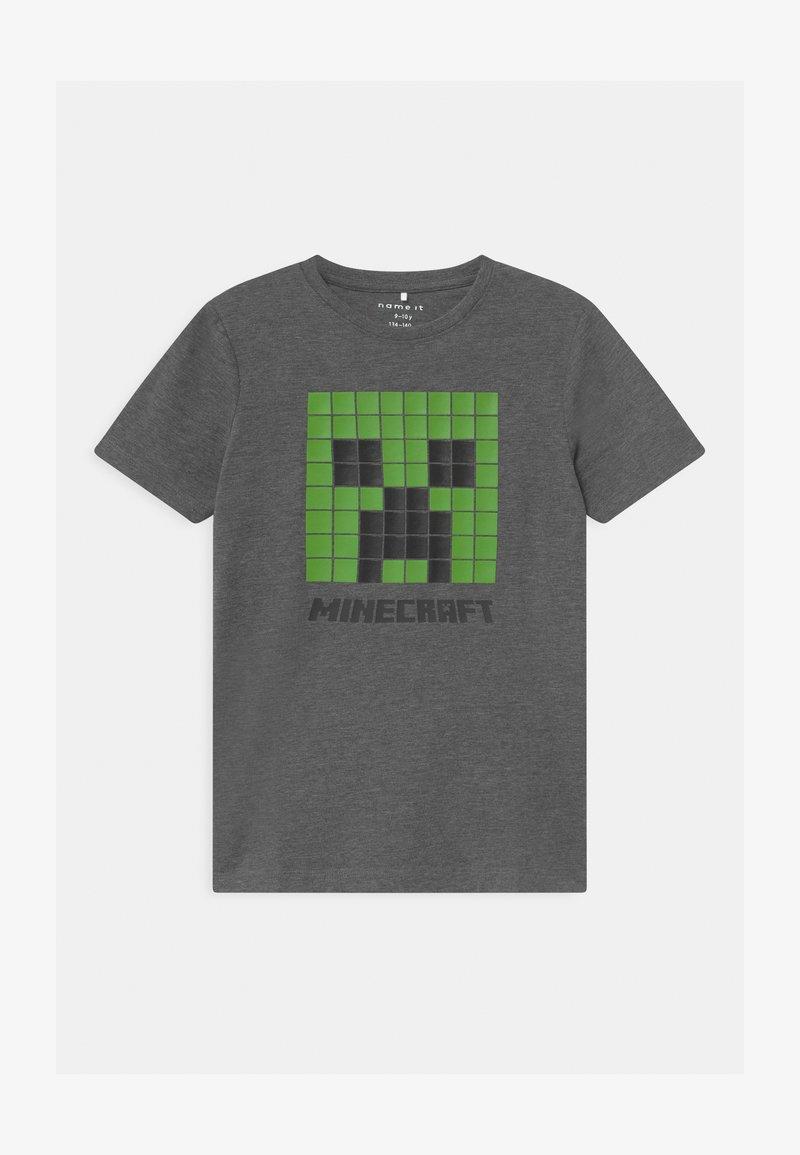 Name it - NKMMINECRAFT  - Print T-shirt - dark grey melange