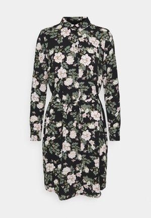 VMSAGA COLLAR SHIRT DRESS  - Skjortklänning - black/fannie
