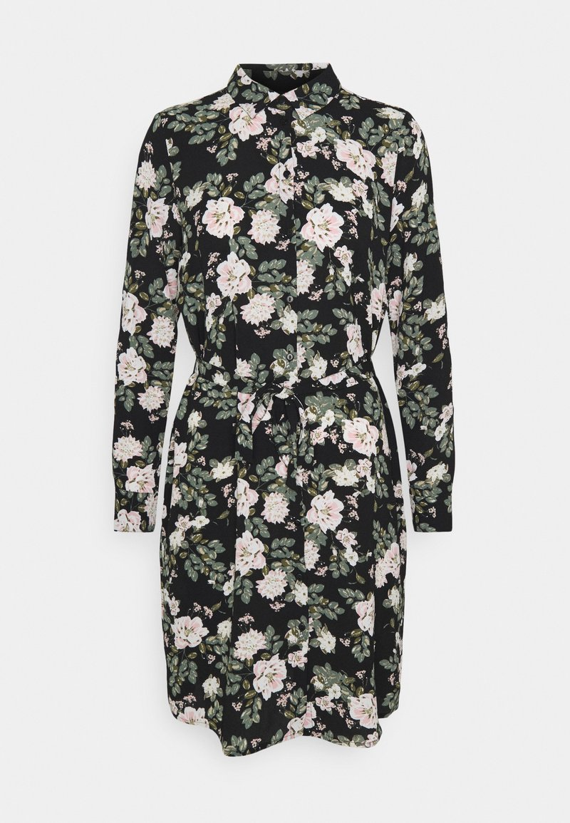 Vero Moda - VMSAGA COLLAR SHIRT DRESS  - Paitamekko - black/fannie