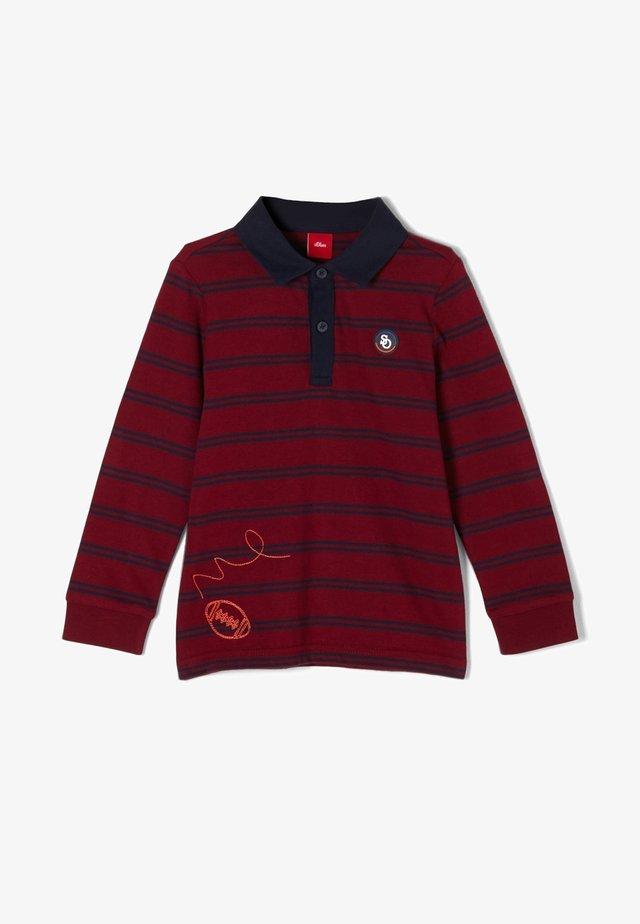Poloshirt - bordeaux stripes