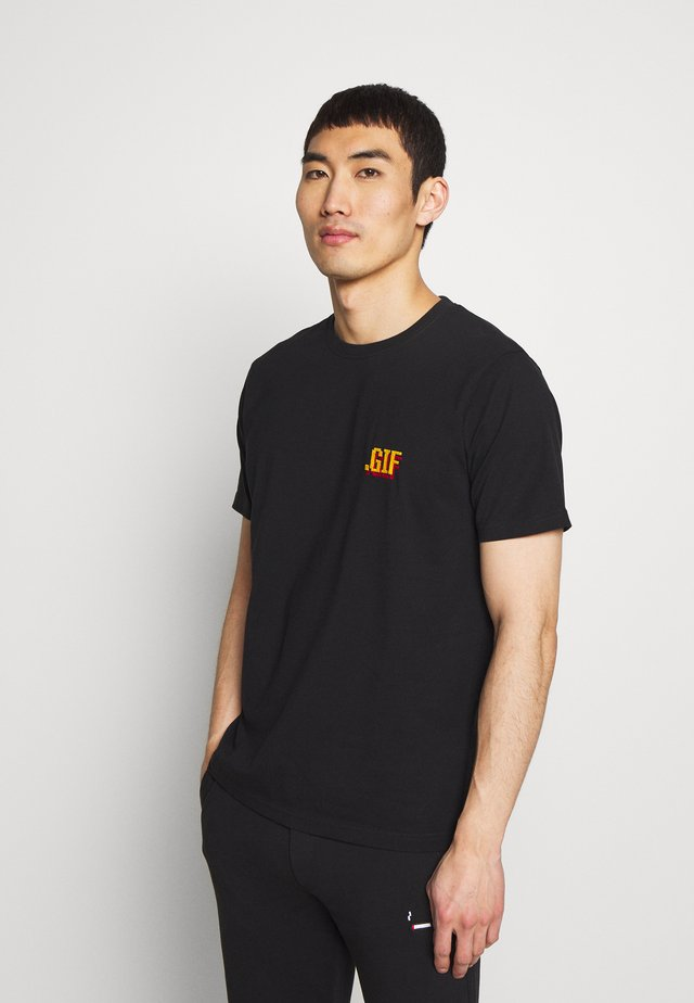 SMALL - Print T-shirt - black
