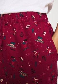 Hunkemöller - PANT CUFF - Pyjama bottoms - rumba red - 4